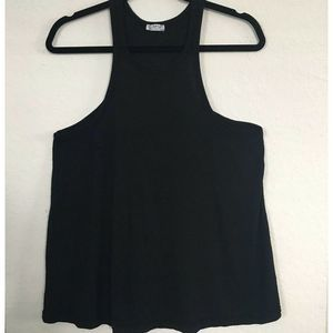Intimately Free People Tank Top Black Ribbed M